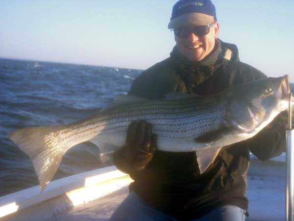 Beautiful Striper taken at Block Island